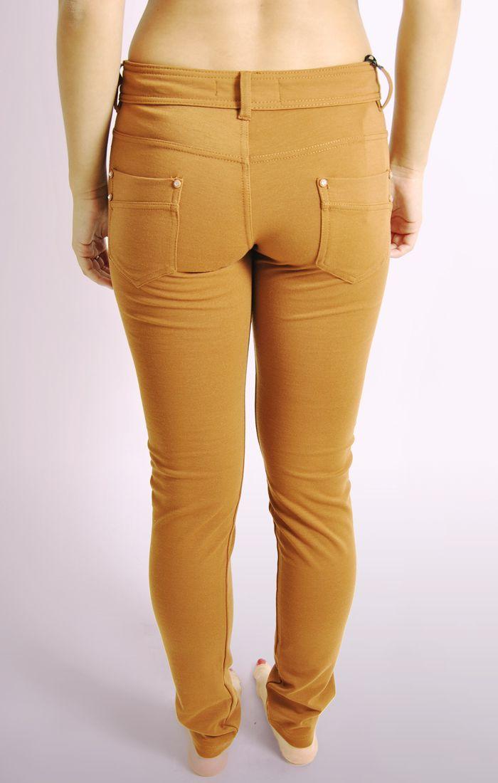 Ladies Tan Skinny Jeans